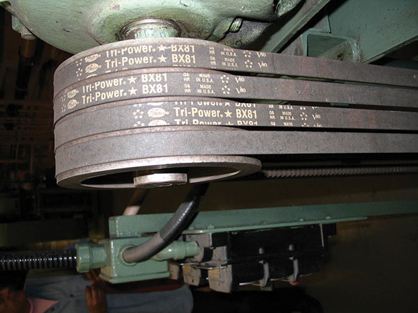 Aligning sheaves on equipment with multiple V-belts is more complex than aligning them on machines designed with single belts.