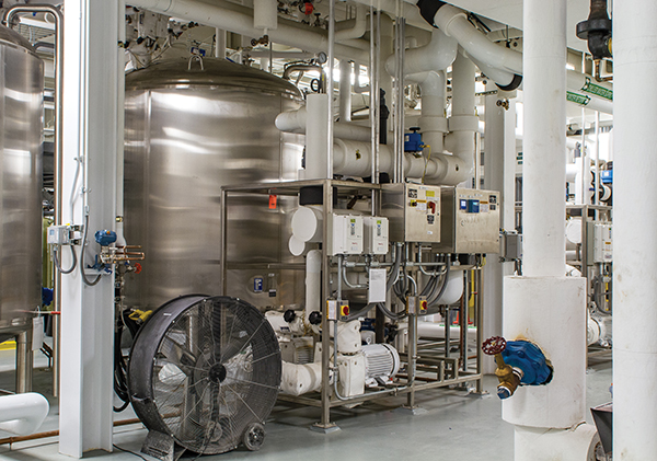 Maintaining the reverse-osmosis purified- water-generation system at the AstraZeneca plant is critical to ongoing production.