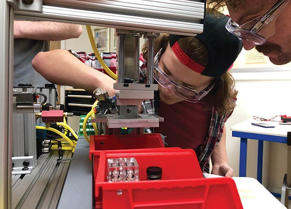 The Kids to Love KTECH mechatronics program is open to youth, military veterans, homeless adults, and anyone else who needs a helping hand. Graduates are qualified to take the Siemens Certification exam. Photo courtesy Kids to Love KTECH program.