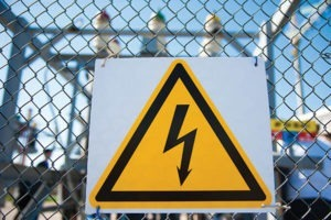 Safety symbol: Caution, risk of electric shock